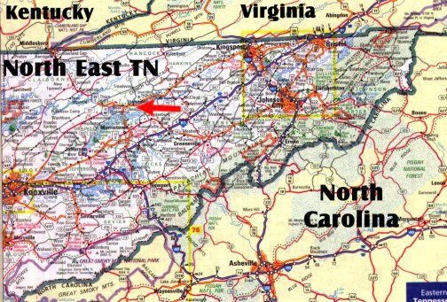 Map Of Eastern Tennessee Afputracom - Detailed map of tennessee